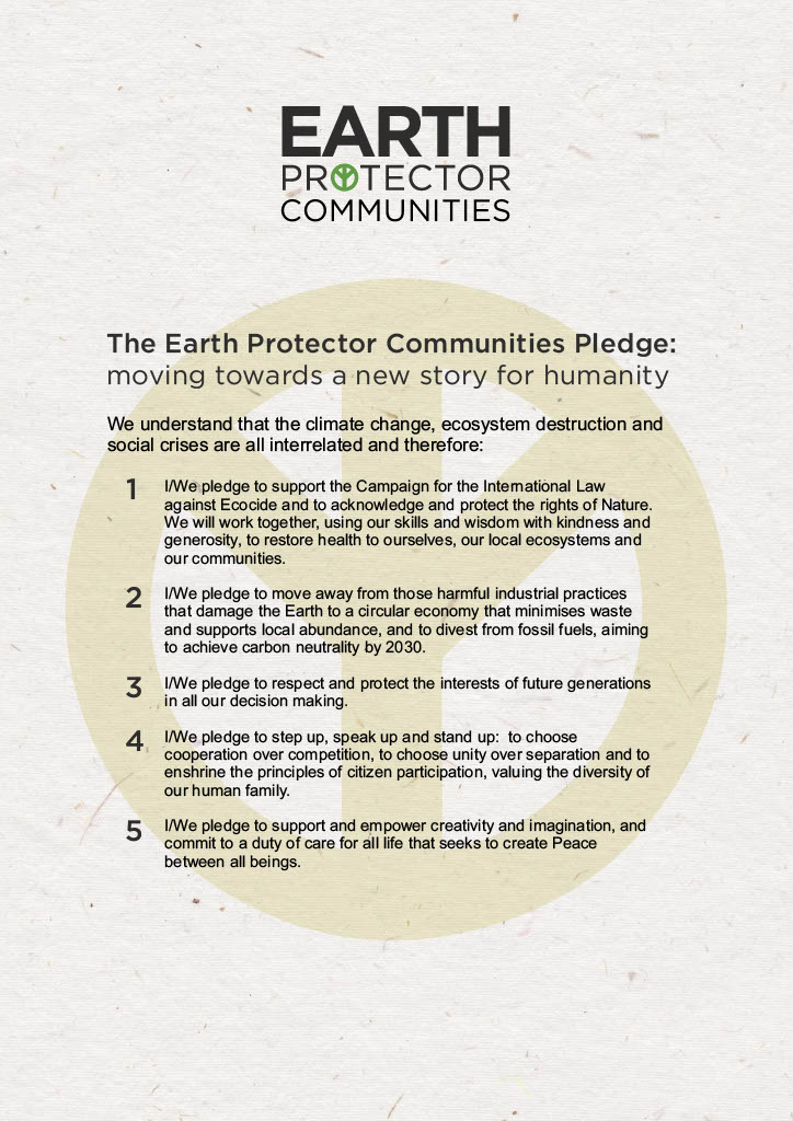 Earth Protectors Pledge